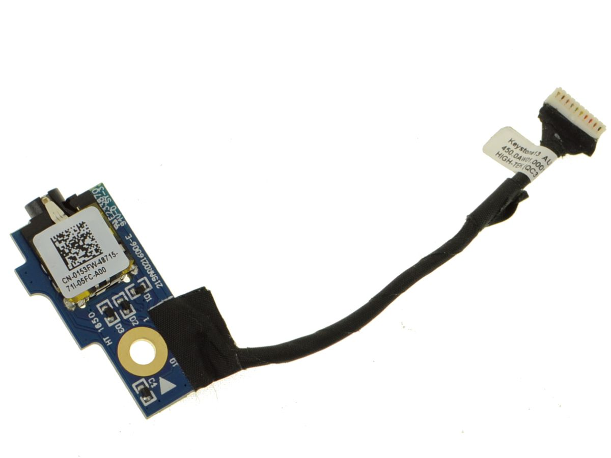 Dell OEM Chromebook 13 (3380) / Latitude 13 (3380) Audio IO Port with Cable  - 153FW