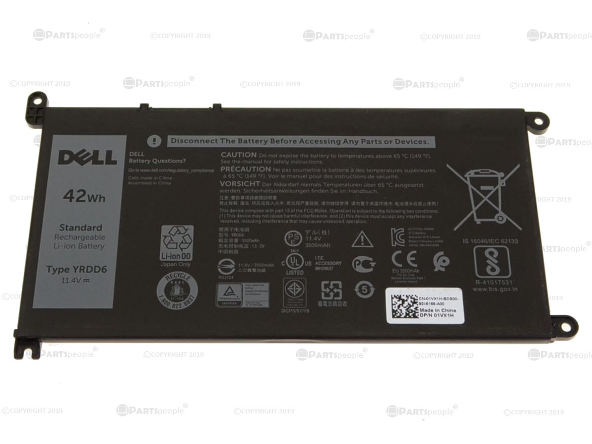 Dell Oem Original Inspiron 14 5481 2 In 1 Battery Yrdd6