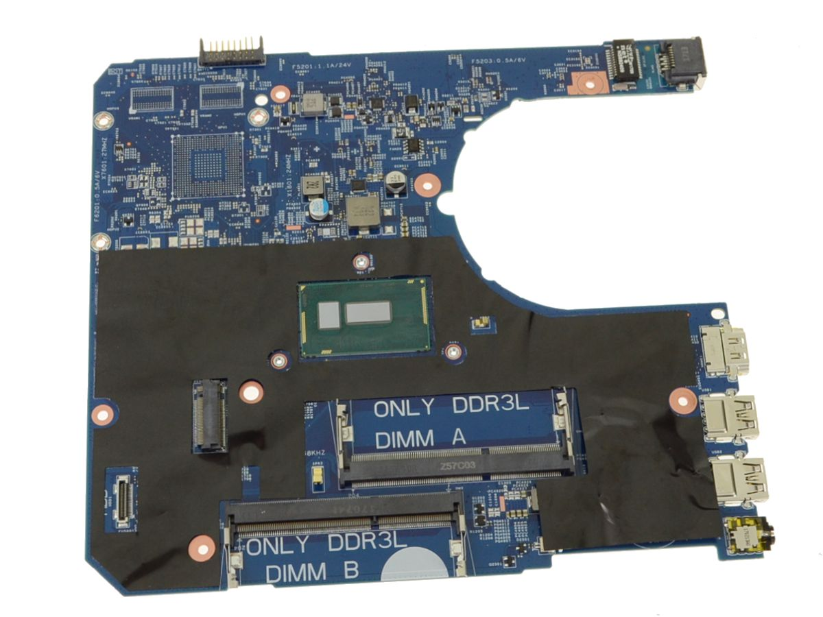 Dell OEM Latitude 3460 / 3560 Motherboard System Board with 1 7GHz Celeron  Processor - Intel Graphics UMA - 2F12F