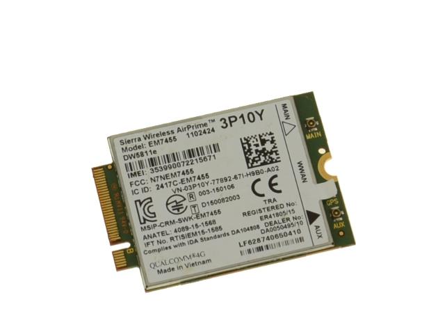 Dell OEM Wireless 5811E (DW5811e) M 2 Mobile Broadband 4G LTE WWAN Card -  3P10Y w/ 1 Year Warranty