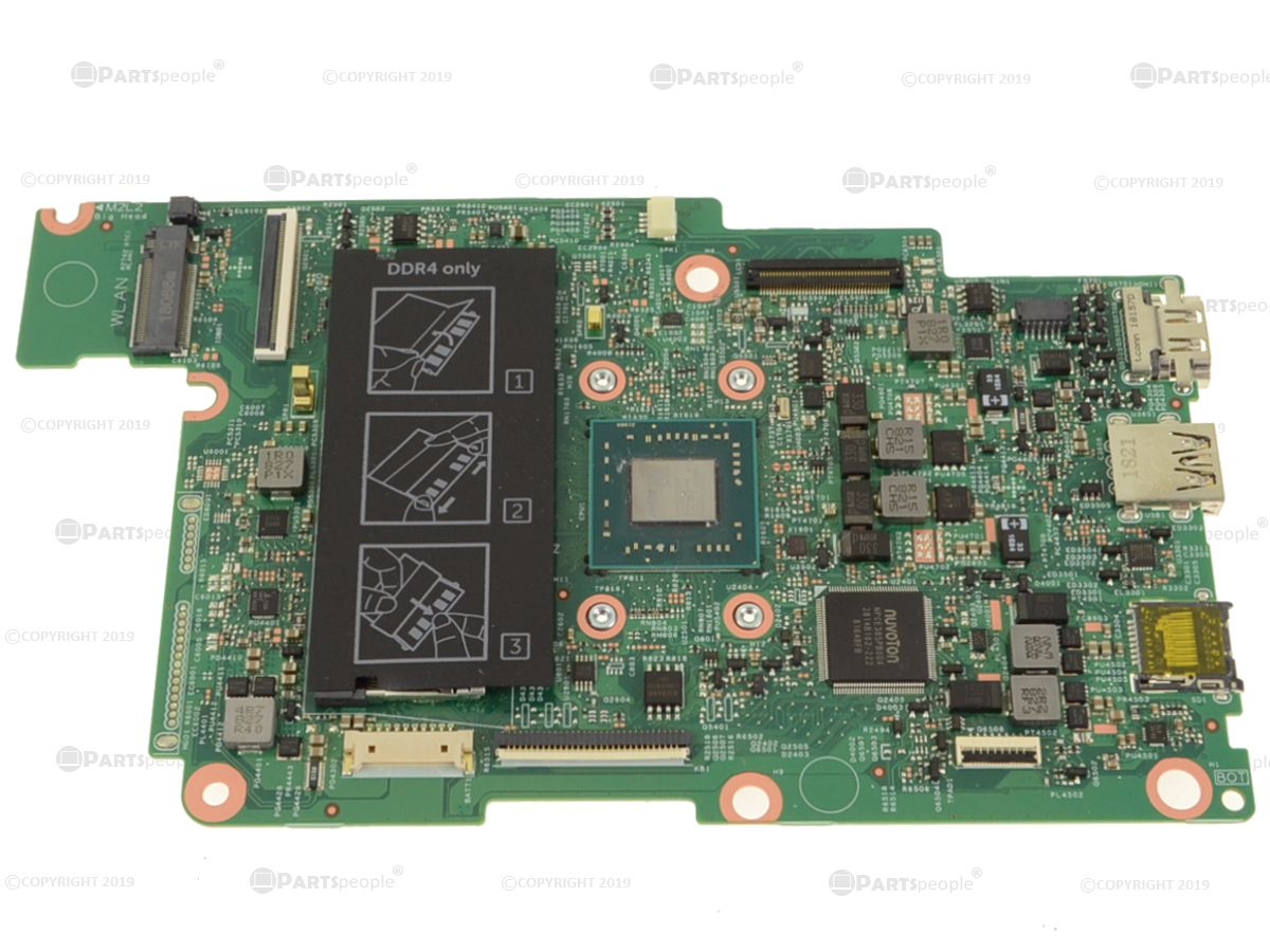 Refurbished Dell Oem Inspiron 11 3180 Motherboard 4p75x