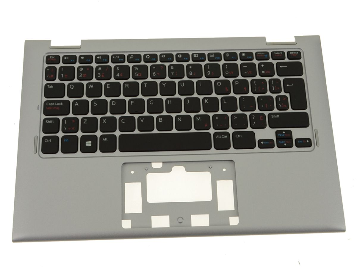 New French - Dell OEM Inspiron 11 (3147 / 3148) Palmrest Keyboard Assembly  - No TP - V5FYM - 5Y5RN