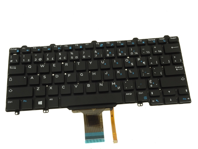 New French Canadian Dell Latitude Laptop Keyboard 9JK9V