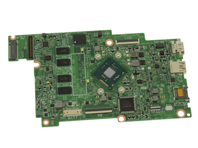 Dell OEM Inspiron 11 (3168) Motherboard System Board with Intel Dual Core  1 6GHz CPU - 32GB eMMC - 9TWCD