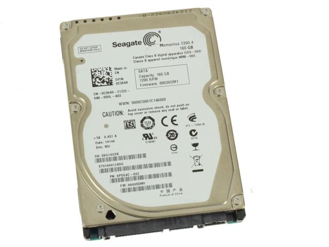 Seagate 160gb SATA Laptop 7200rpm C384R Hard Drive 2X1CJ