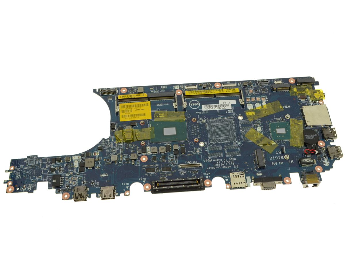 Dell OEM Latitude E5570 Motherboard System Board with i5 2 6GHz Quad Core -  Intel Graphics - CPTX8