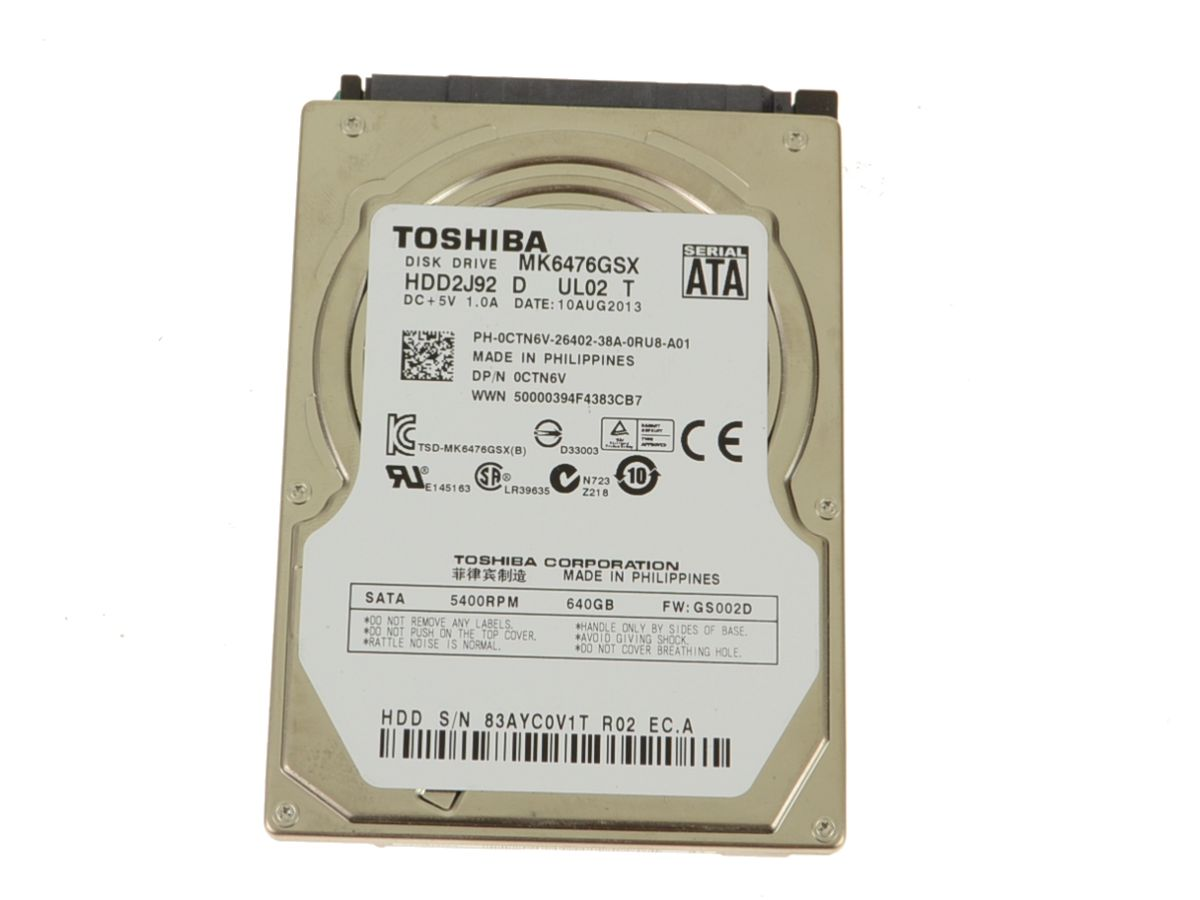 640GB HARD DRIVE FOR Dell Inspiron 1318 1320 1370 1526 1545 1546 1564 1570 1750