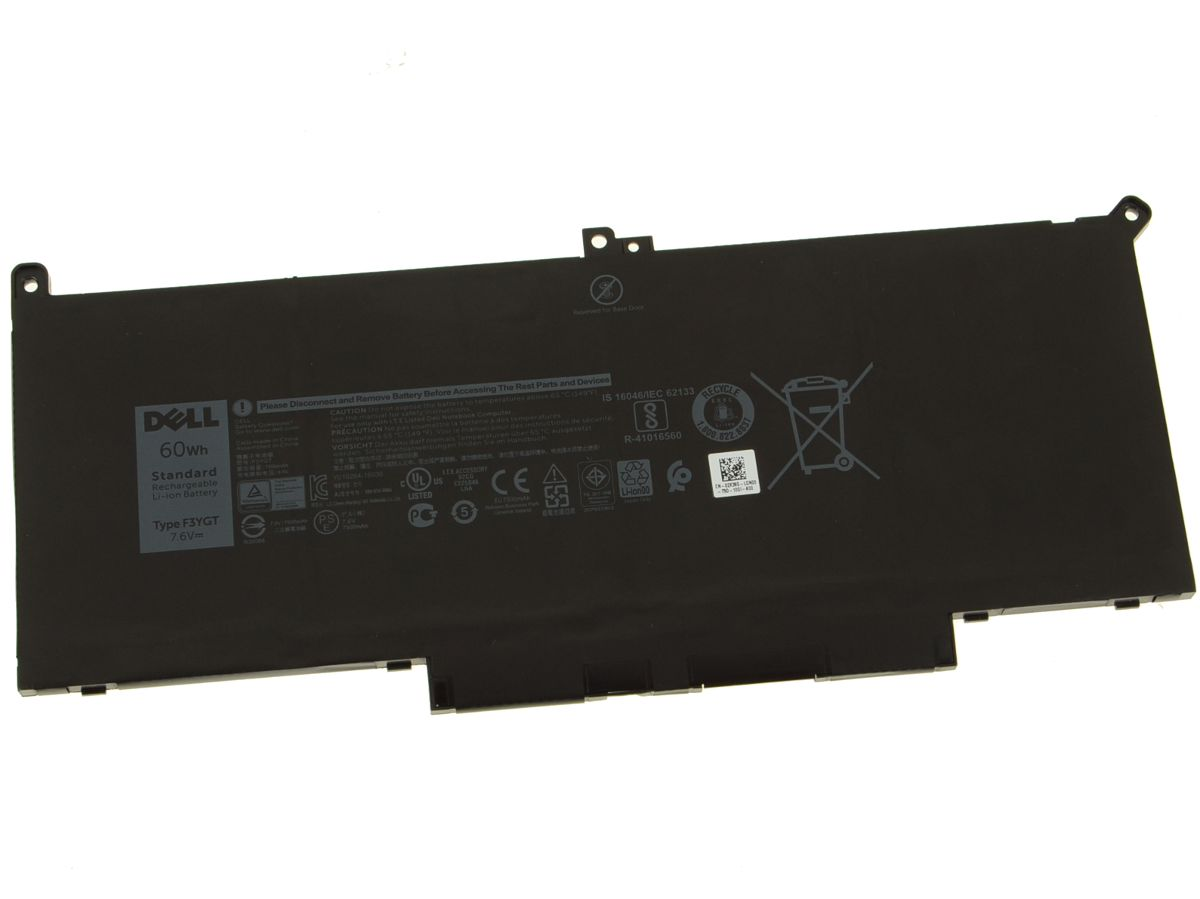 New Dell OEM Original Latitude 7480 / 7280 4-Cell 60Wh Laptop Battery -  F3YGT