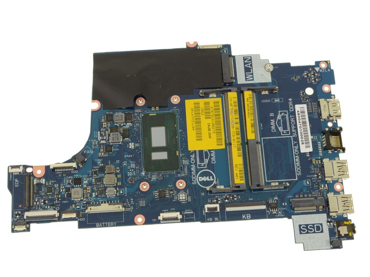 Dell OEM Inspiron 15 (5570) / 17 (5770) Motherboard System Board Core i5  1 6GHz CPU - F7MGJ
