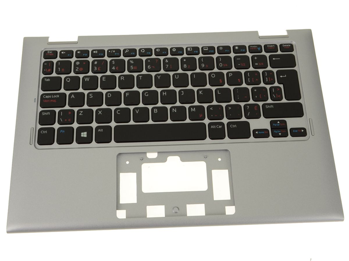 New French - Dell OEM Inspiron 11 (3147 / 3148) Palmrest Keyboard Assembly  No TP - N6TC5 - FPRN8