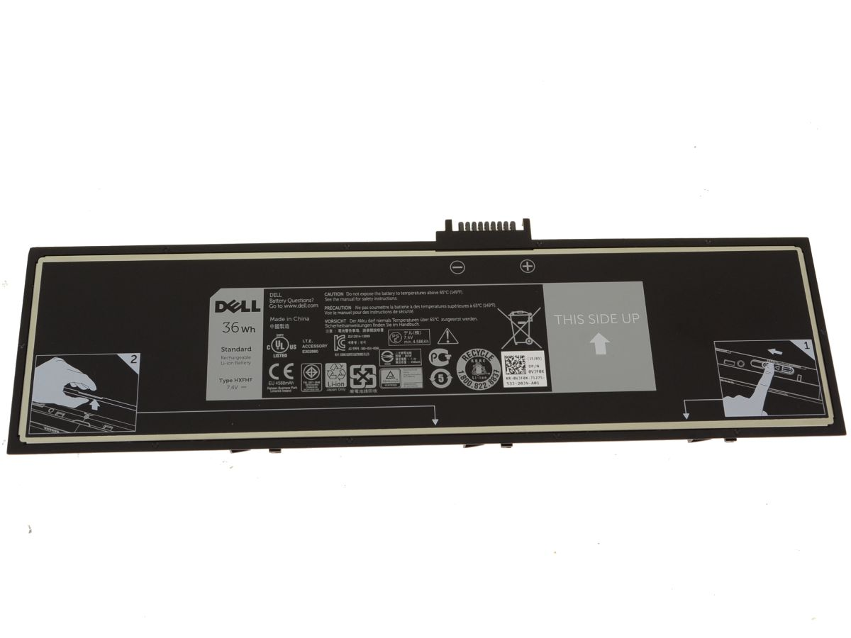 Dell Oem Original Venue 11 Pro 7130 7139 Battery Hxfhf Baterai Cmos Laptop Notebook Kabel Thumb Nail