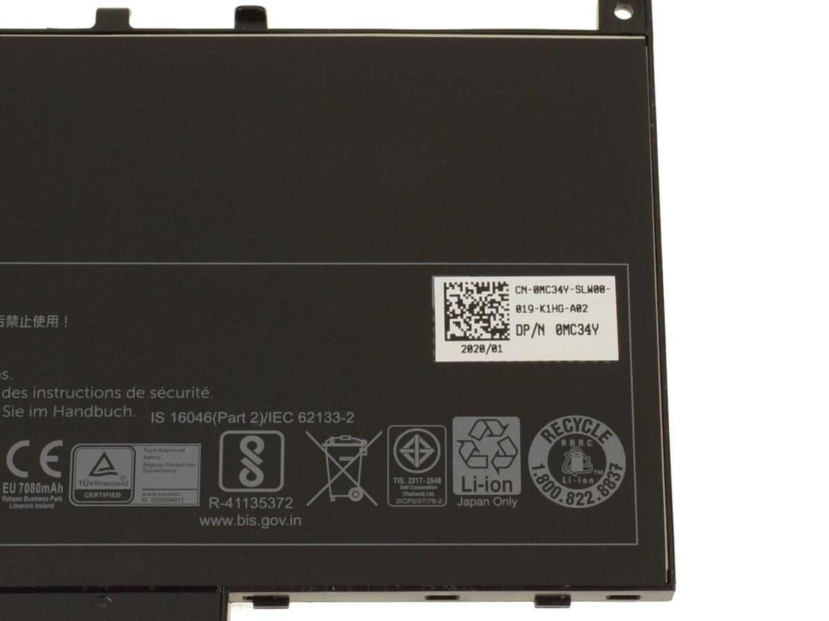 Dell OEM Latitude E7470 / E7270 4-cell 55Wh Original Laptop Battery - J60J5  w/ 1 Year Warranty