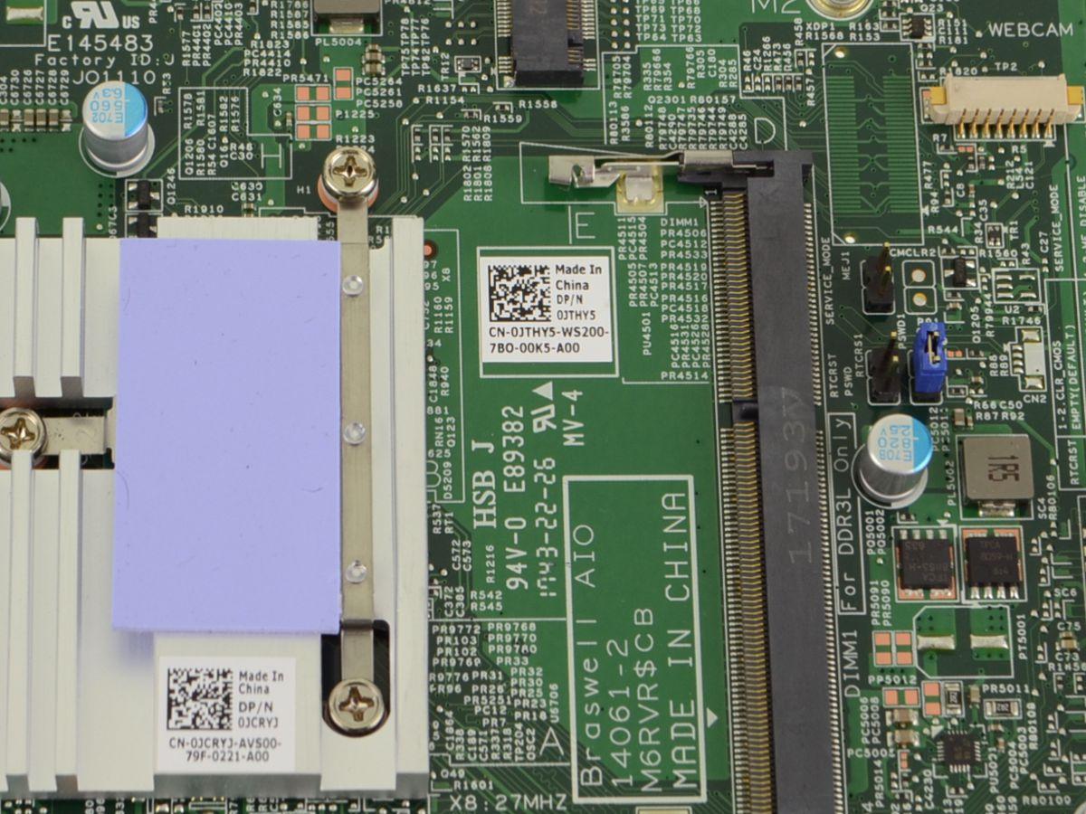 JTHY5 Dell Inspiron 20 3052 AIO Desktop Motherboard W// Intel J3710 1.6GHz JTHY5