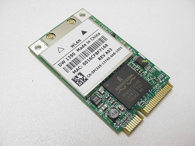 PC559 dell truemobile 1390 802 11 b g wireless card pc559  at gsmx.co
