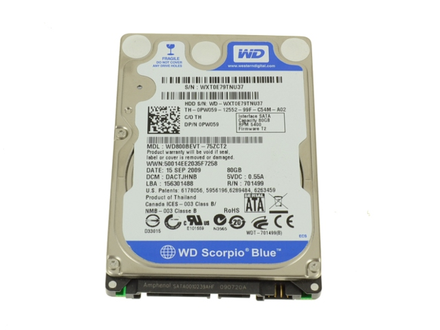 Download Drivers: Dell Inspiron 1200 Western Digital Scorpio 80GB HDD