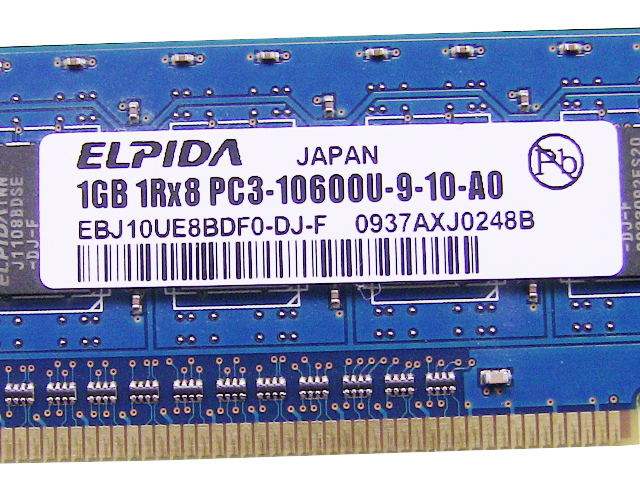 Dell OEM DDR3 1333Mhz 1GB PC3-10600U Non-ECC RAM Memory Stick - TW149 w/ 1  Year Warranty