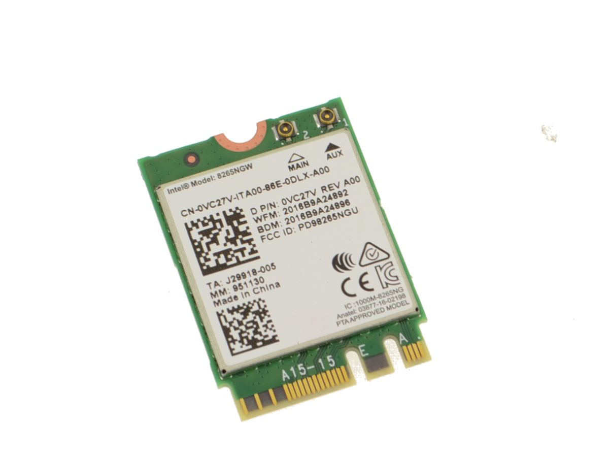 Intel Wireless-AC 8265 Dual Band WLAN WiFi 802 11 ac/a/b/g/n BT 4 2 M 2  Card - VC27V w/ 1 Year Warranty