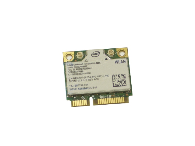 Dell OEM Intel Centrino Advanced-N 6205 Wireless WiFi 802 11 a/b/g/n  Half-Height Mini-PCI Express Card - X9JDY w/ 1 Year Warranty