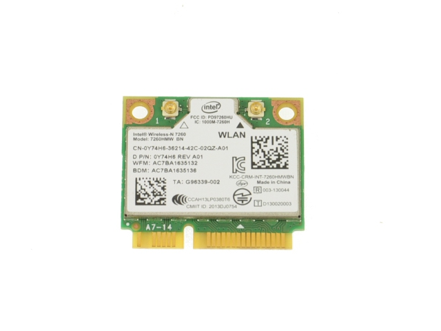 "Dell Inspiron 15R 5537 15.6/"" Wifi Wireless Bluetooth Card 7260HMW BN 0Y74H6"